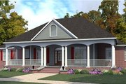 Farmhouse Style House Plan - 3 Beds 2 Baths 2498 Sq/Ft Plan #63-385 Exterior - Front Elevation