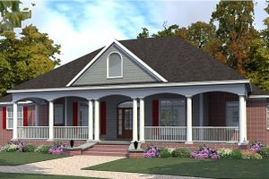 Farmhouse Exterior - Front Elevation Plan #63-385