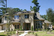European Style House Plan - 4 Beds 3.5 Baths 3597 Sq/Ft Plan #449-4 Exterior - Front Elevation