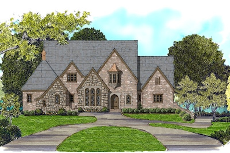 European Exterior - Front Elevation Plan #413-890 - Houseplans.com
