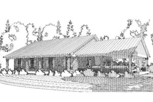 Country Exterior - Front Elevation Plan #63-394