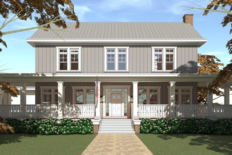 Farmhouse Exterior - Front Elevation Plan #64-248