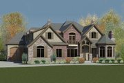 European Style House Plan - 8 Beds 5.5 Baths 8053 Sq/Ft Plan #920-61 Exterior - Front Elevation