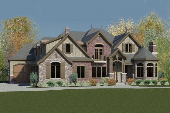 European Exterior - Front Elevation Plan #920-61