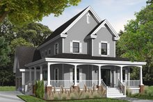 House Plan Design - Farmhouse Exterior - Front Elevation Plan #23-840