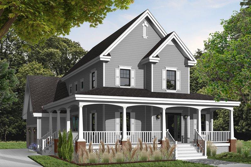 Home Plan - Farmhouse Exterior - Front Elevation Plan #23-840