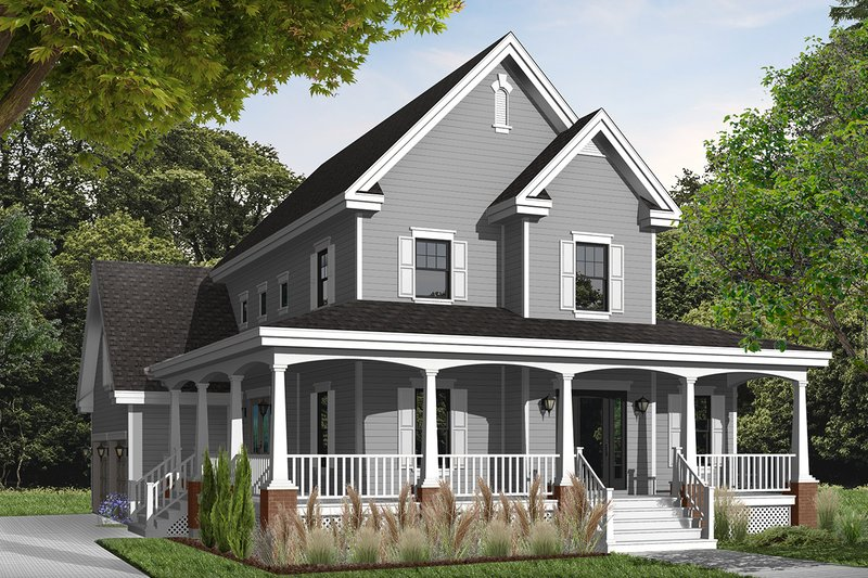 Farmhouse Exterior - Front Elevation Plan #23-840