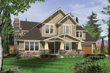 Dream House Plan - Craftsman Exterior - Front Elevation Plan #48-611