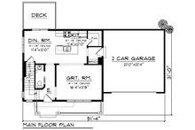 Farmhouse Floor Plan - Main Floor Plan Plan #70-1453