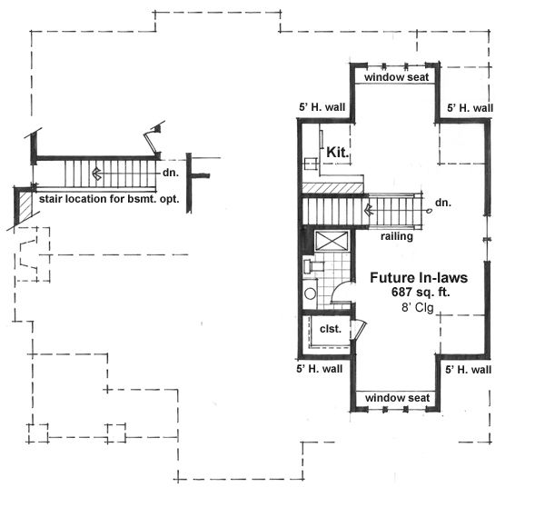 Craftsman Floor Plan - Upper Floor Plan Plan #51-519