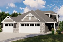 Dream House Plan - Cottage Exterior - Front Elevation Plan #1064-107