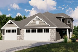 Dream House Plan - Cottage Exterior - Front Elevation Plan #1064-107