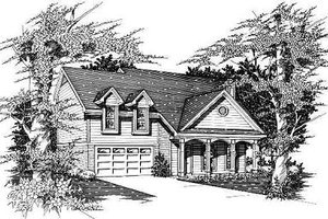 Traditional Exterior - Front Elevation Plan #329-186