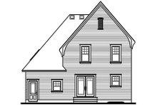 House Plan Design - European Exterior - Rear Elevation Plan #23-356