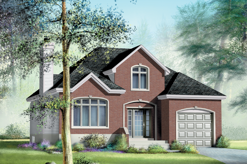 European Style House Plan - 1 Beds 1 Baths 1274 Sq/Ft Plan #25-4656 Exterior - Front Elevation