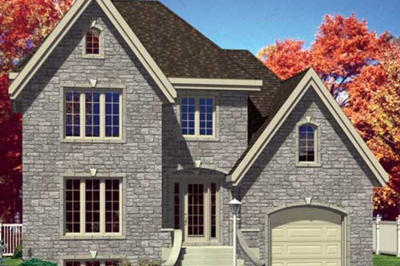European Style House Plan - 3 Beds 1.5 Baths 1494 Sq/Ft Plan #138-283 Exterior - Front Elevation