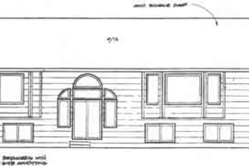 Traditional Exterior - Rear Elevation Plan #58-150 - Houseplans.com