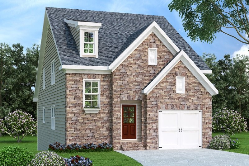 Traditional Exterior - Front Elevation Plan #419-250 - Houseplans.com