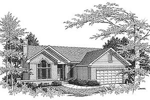 Traditional Exterior - Front Elevation Plan #70-126