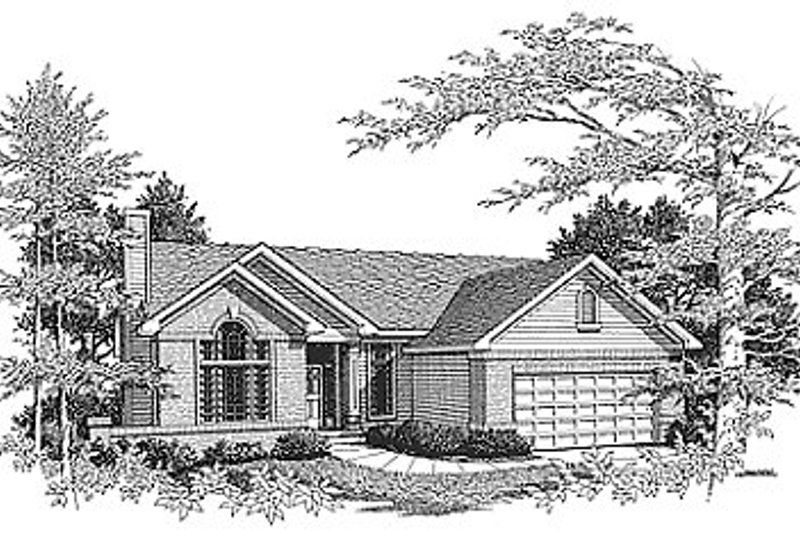 Traditional Style House Plan - 2 Beds 2 Baths 1430 Sq/Ft Plan #70-126 Exterior - Front Elevation