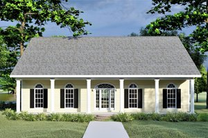 Country Exterior - Front Elevation Plan #44-176