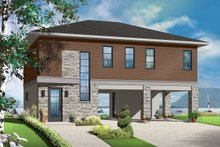 Contemporary Exterior - Front Elevation Plan #23-2591