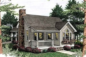 House Plan Design - Cottage Exterior - Front Elevation Plan #406-215
