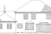 Colonial Style House Plan - 3 Beds 3.5 Baths 3218 Sq/Ft Plan #137-194 Exterior - Rear Elevation