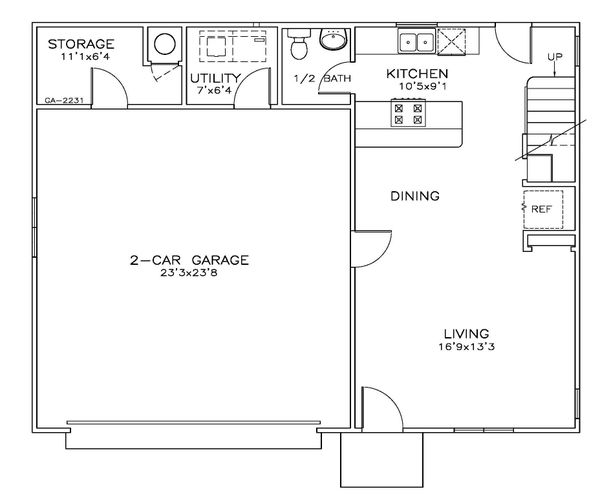 Southern Floor Plan - Main Floor Plan Plan #8-313