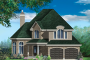 European Style House Plan - 3 Beds 2 Baths 2505 Sq/Ft Plan #25-4858 Exterior - Front Elevation