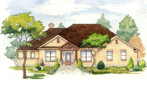 House Plan Design - Mediterranean Exterior - Front Elevation Plan #80-158