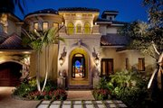 Mediterranean Style House Plan - 5 Beds 7 Baths 5474 Sq/Ft Plan #27-503 Exterior - Front Elevation