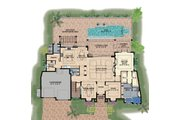 Contemporary Style House Plan - 4 Beds 6 Baths 6524 Sq/Ft Plan #548-24 Floor Plan - Main Floor Plan