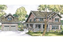 Architectural House Design - Craftsman Exterior - Front Elevation Plan #124-556
