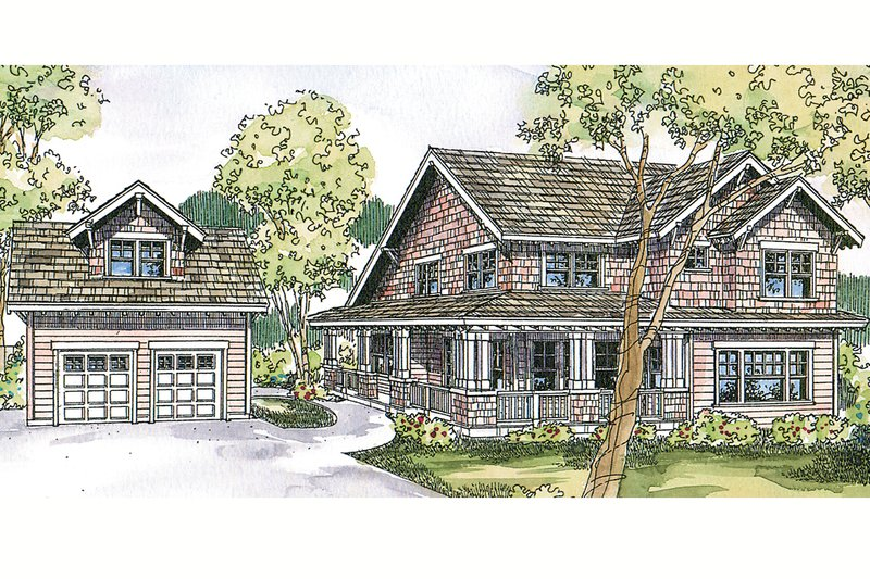 Craftsman Exterior - Front Elevation Plan #124-556
