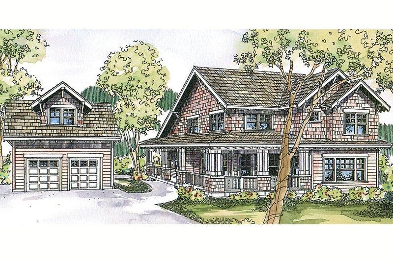 Craftsman Exterior - Front Elevation Plan #124-556