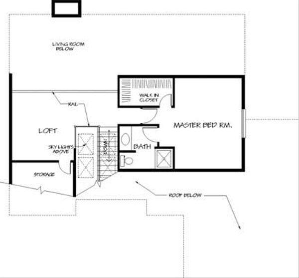 Traditional Floor Plan - Upper Floor Plan Plan #320-150