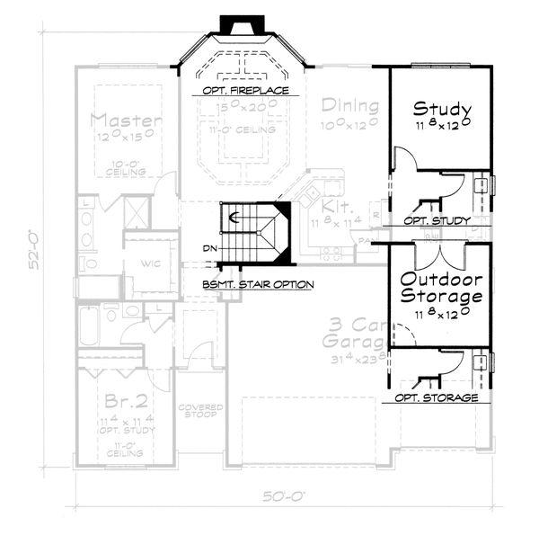 Craftsman Floor Plan - Other Floor Plan #20-2115