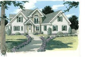 Traditional Exterior - Front Elevation Plan #75-117