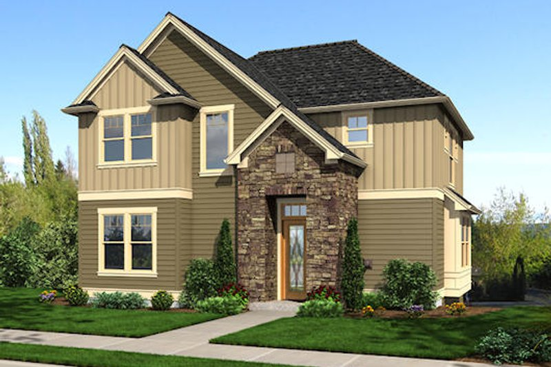 Traditional Exterior - Front Elevation Plan #48-504 - Houseplans.com