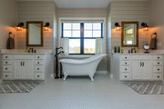 Country Style House Plan - 5 Beds 4.5 Baths 4724 Sq/Ft Plan #70-1488 Interior - Master Bathroom