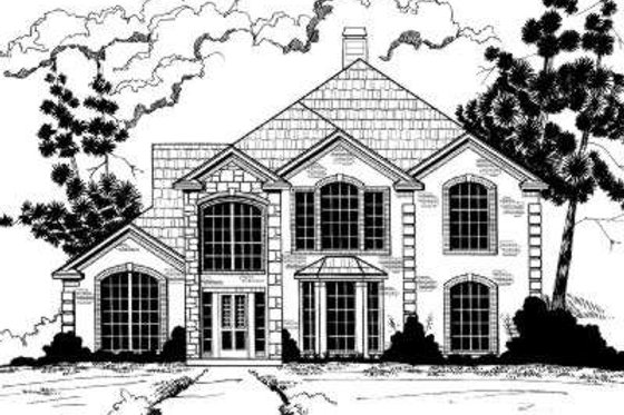 European Exterior - Front Elevation Plan #317-104