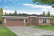 Prairie Style House Plan - 3 Beds 2 Baths 2008 Sq/Ft Plan #124-1192 Exterior - Front Elevation