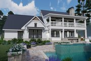 Southern Style House Plan - 3 Beds 2.5 Baths 2458 Sq/Ft Plan #120-260 Exterior - Rear Elevation