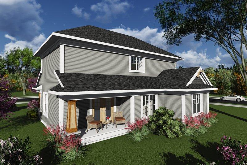 Craftsman Exterior - Rear Elevation Plan #70-1239 - Houseplans.com