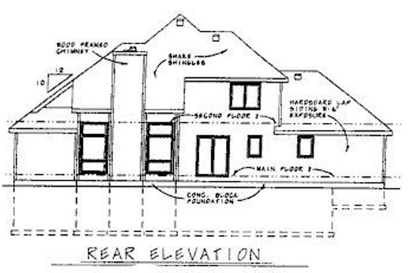 Traditional Exterior - Rear Elevation Plan #20-589 - Houseplans.com