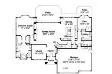 Mediterranean Floor Plan - Main Floor Plan Plan #124-713