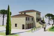 European Style House Plan - 5 Beds 7.5 Baths 6688 Sq/Ft Plan #542-9 Exterior - Other Elevation