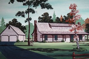 Country Exterior - Front Elevation Plan #45-351