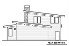 Contemporary Exterior - Rear Elevation Plan #1070-14